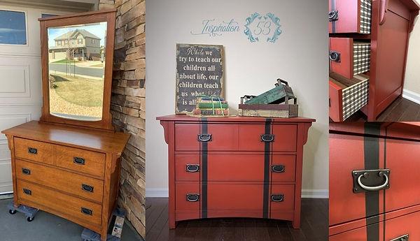 Rustic Red Dresser