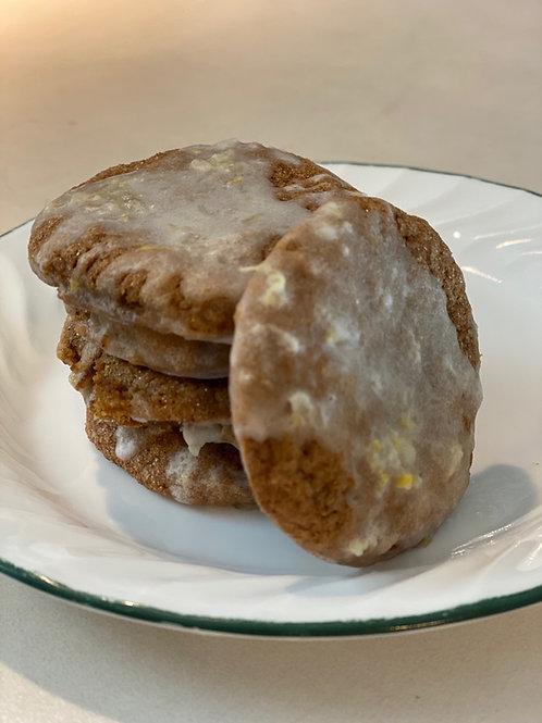 Ginger Lemon Cookies with Lemon Icing