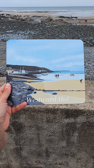 Westward Ho! North Devon Placemat - Jagos Art