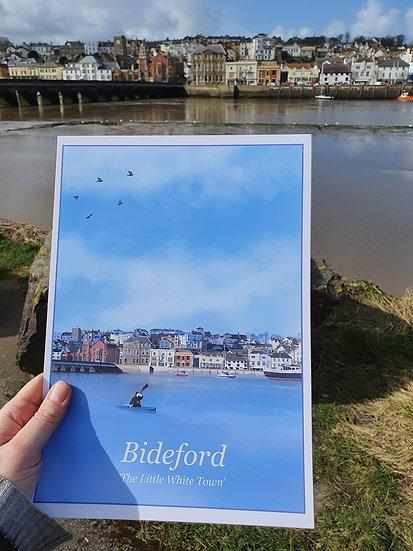 Bideford Town North Devon Art Print - Jagos Art