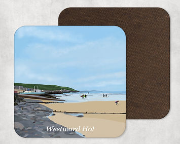 Westward Ho! North Devon Table Coaster