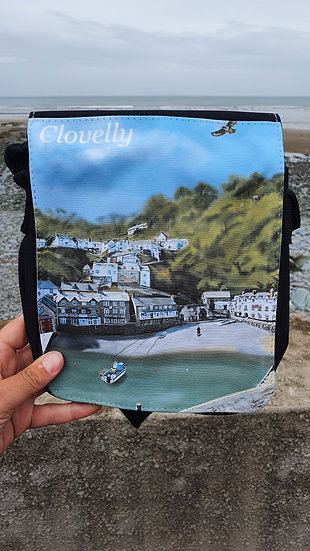 Clovelly North Devon Shoulder Bag Jagos Art