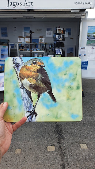 Robin Red Breast sitting on a branch Placemat
