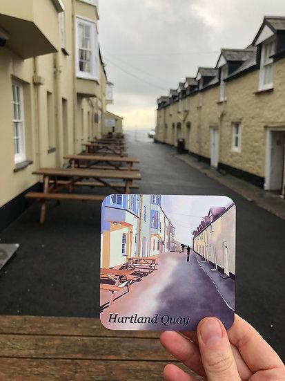 Hartland Quay North Devon Coaster - Jagos Art