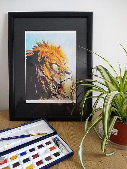Lion Art Print - Jagos Art