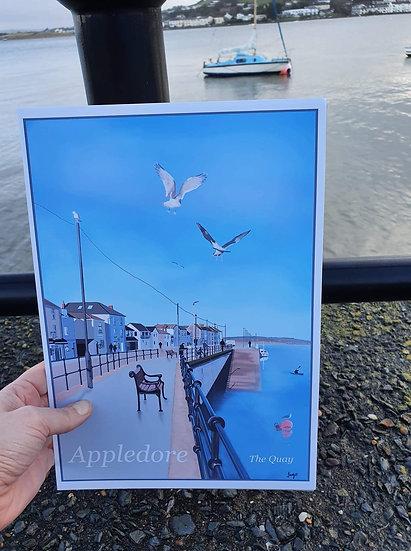 Appledore Fishing Village The Quay Art Print - Jagos Art