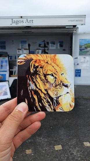 Magnificent Lion Head coaster Jagos Art