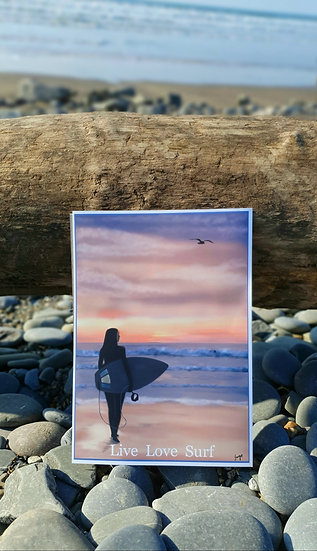 Live Love Surf Art Print