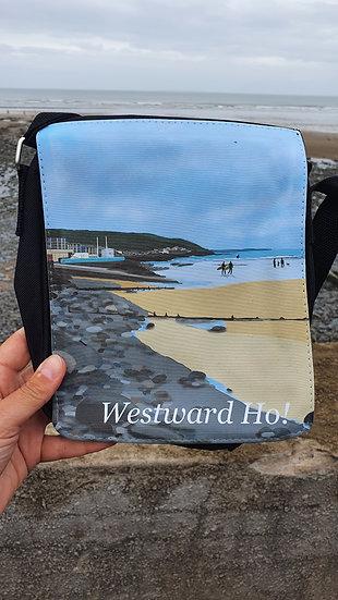 Westward Ho! North Devon black shoulder bag Jagos Art