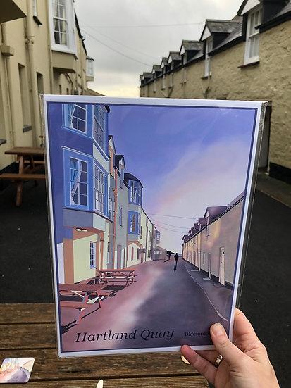 Hartland Quay North Devon Art Print - Jagos Art