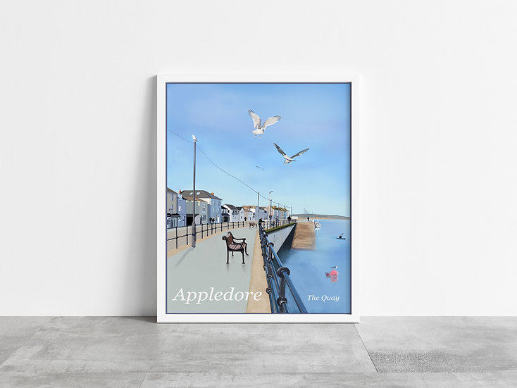 Appledore Fishing Village - The Quay Art Print