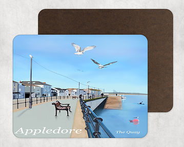 Appledore Quay in North Devon Table Placemat