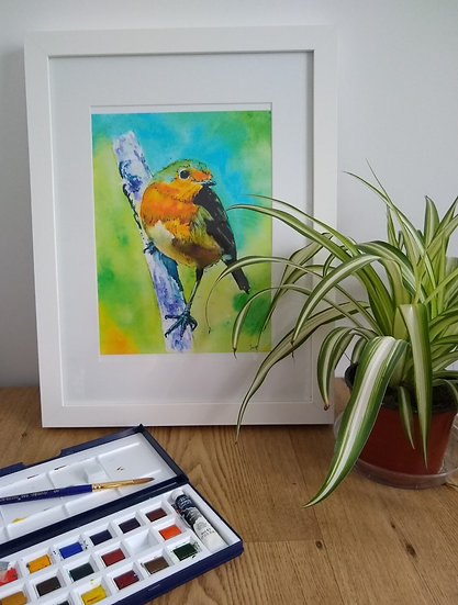Robin Red Breast Art Print - Jagos Art