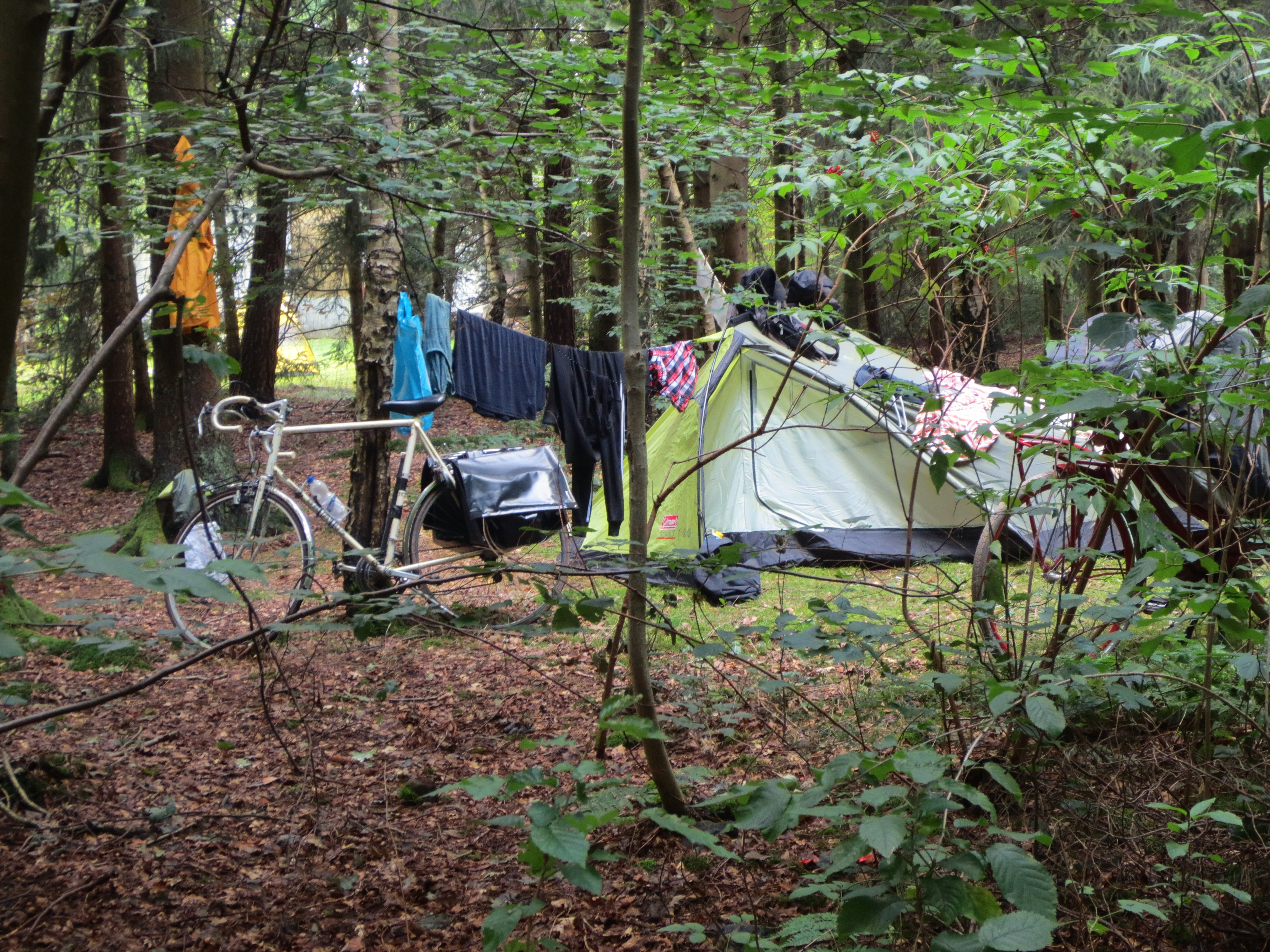 bed & bike on camping wesertal.JPG