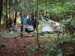 bed & bike on camping wesertal.JPG