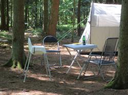 kamperen in de bos
