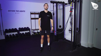 Band Overhead Triceps Press