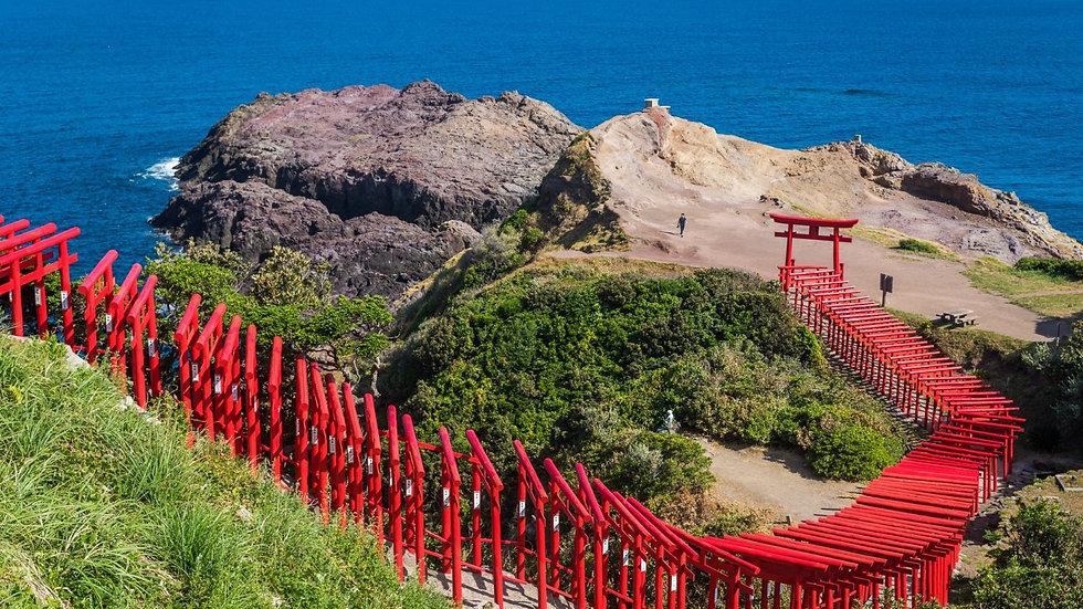 Tsunoshima Ohashi Bridge & Motonosumi Shrine Course