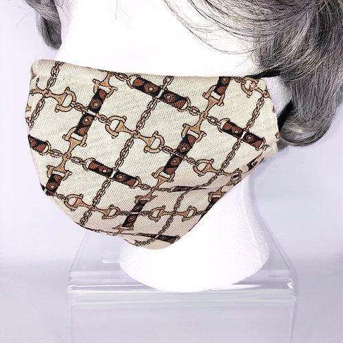 Ninja Style Face Mask Vintage Horsebit Knit Silk Jersey