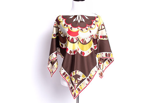 Capelet & Halter Top Pucci Firenze Radial Flower Scarf