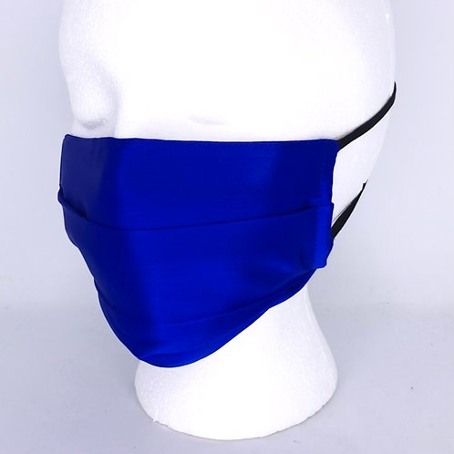 Pleated Style Silk Face Mask - Royal Blue