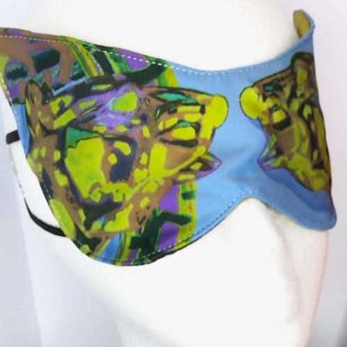 Eye Mask Cartier Panther Silk  (Blue)