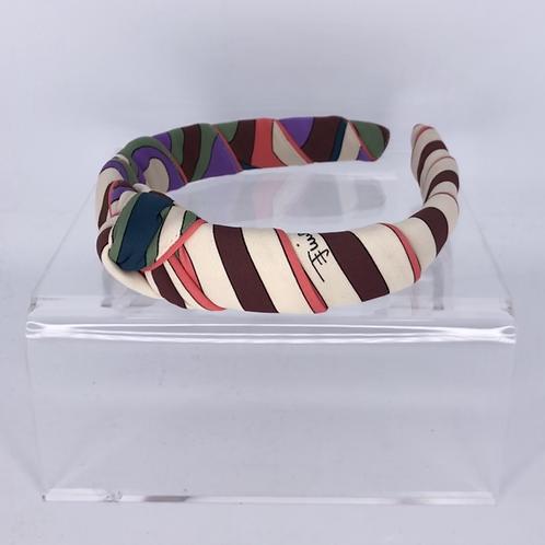 Headband made of Pucci Vintage Knit  (Purple / Pink)