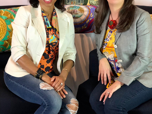 Interview:  Creating Beautiful Pillows From Hermes Scarves