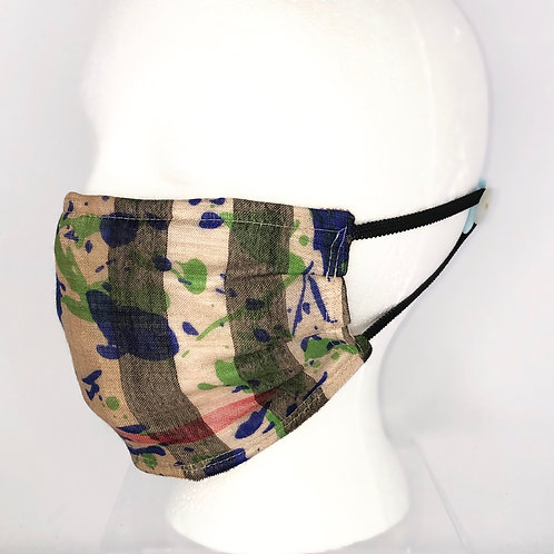 Pleated Style Face Mask Burberry Splatter Print Scarf