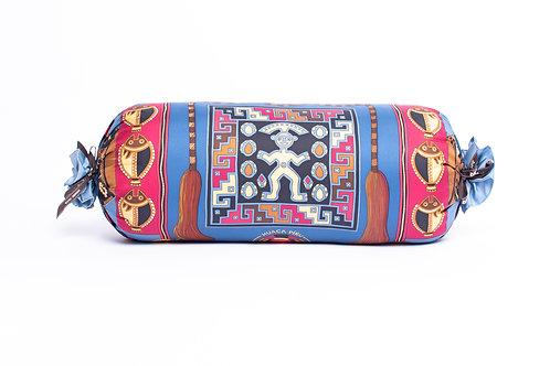 Bolster Pillow Hermes Vintage Huaca Piru (Aztec) Scarf