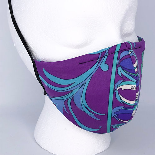 Ninja Style Face Mask Pucci Print (Purple / Green)