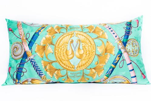 Rectangular Pillow Hermes Vintage Daimyo Princes Jacquard Scarf