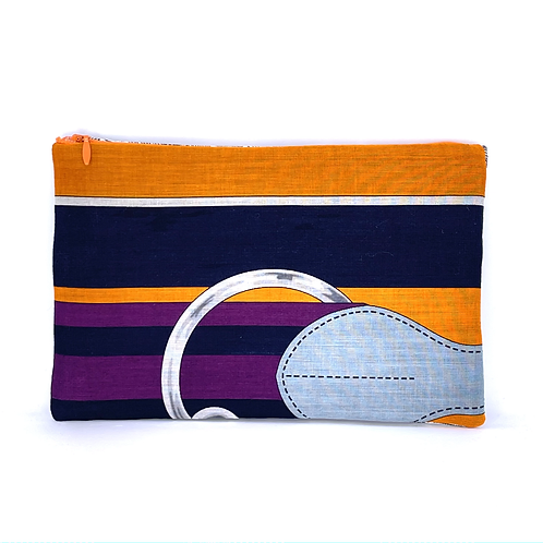 Convertible waist/cosmetic pouch of Hermes Tatersale Cotton Pareo