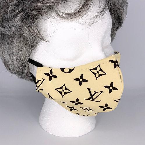 Ninja Style Face Mask Louis Vuitton Logo Knit (Brown / Vanilla)