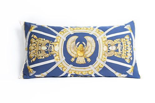 Rectangular Pillow Hermes Vintage Egypt Scarf