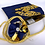 Thumbnail: RoKi Crossbody of Vintage Cartier Big Cats Midnight silk scarf