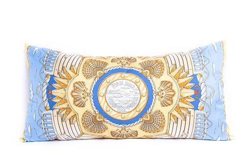 Rectangular Pillow Hermes Vintage Railing Scarf