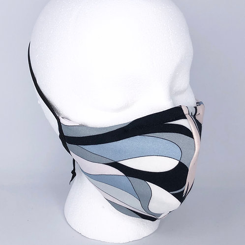 Ninja Style Face Mask Vintage Pucci Knit Material (Grey/Black/Pink)