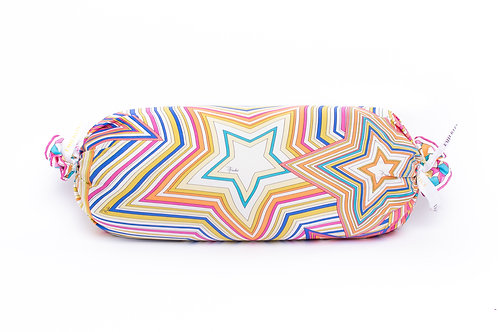 Mini Bolster Pillow Pucci 80's Geometric Star Neon Scarf
