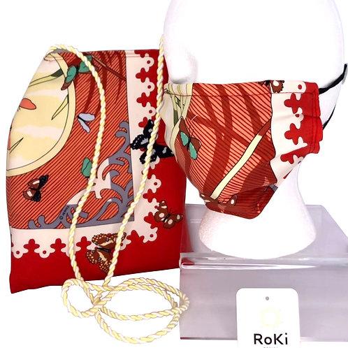 Pleated Style Face Mask & Crossbody Handbag Hermes Varangues