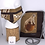 Thumbnail: Pleated Style Face Mask & Crossbody Handbag Cartier Panthere Bronze/Brown
