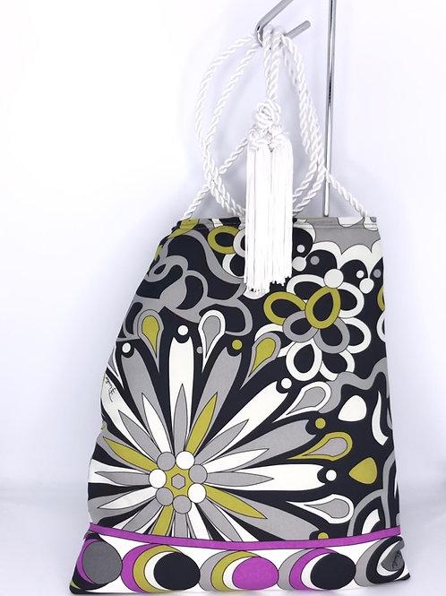 Vintage Crossbody Handbag Pucci Silk Scarf