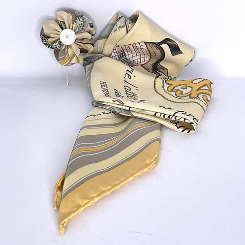 RoKi Silky Ultra of Vintage Hermes Couvertures et Tenues Silk Scarf
