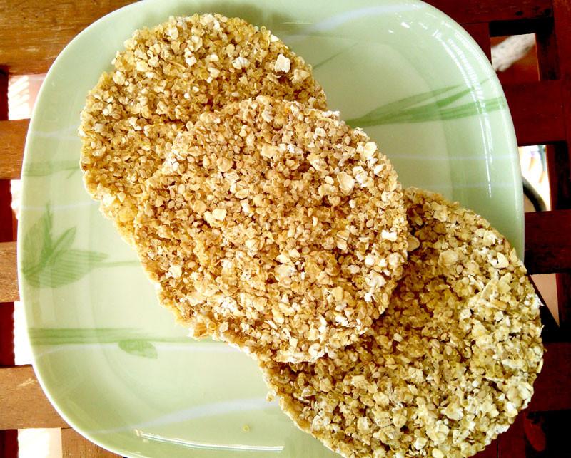 tortitas caseras de quinoa y avena