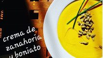 Crema de zanahoria y boniato: