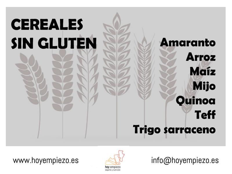 Cereales sin gluten