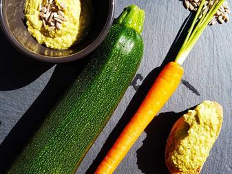 Paté de calabacín, zanahoria y pipas de girasol