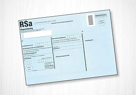 RSa Klebeetikett maschinenfähig C5 Dr. Grazer + Co.