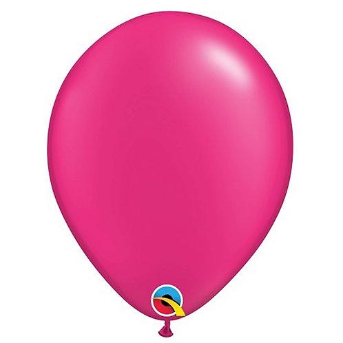 """Balão Latex Perolado Pink Magenta 11"""" UNIDADE (Qualatex)"""