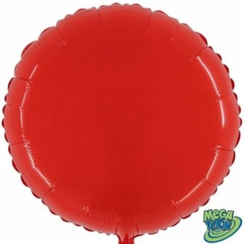"""Redondo Megacolor Vermelho 21"""" UNIDADE (Megatoon)"""